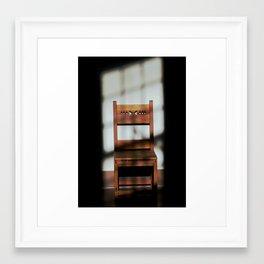 Isolated Chair Framed Art Print