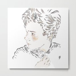 Isak phone Metal Print