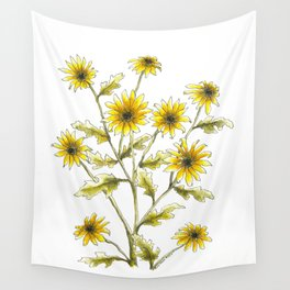 Yellow black eyed Susans painting Wall Tapestry