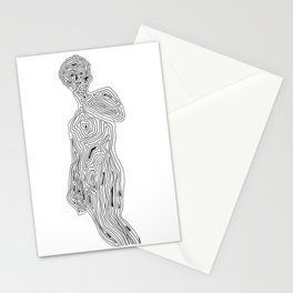 Body acceptance - minimalistic drawing Stationery Cards