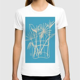 TROPICAL FLOWERS IN A VASE T-shirt
