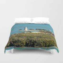 Boca Chita Key and The Miami Skyline Duvet Cover