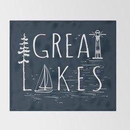 Great Lakes Throw Blanket