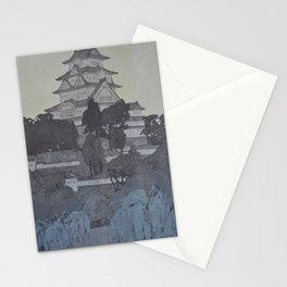 1926 Hiroshi Yoshida Japanese Woodblock Print Himeji Castle Evening Stationery Cards