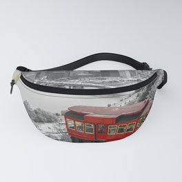 Pittsburgh City View Black White Incline Print Fanny Pack