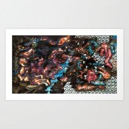 Black Star Reticulum Art Print