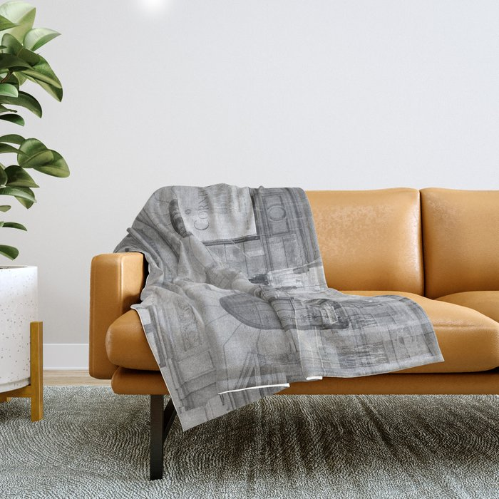 city chaos theory Throw Blanket