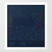 constellations Art Prints featuring Constellations by datavis/pwowk
