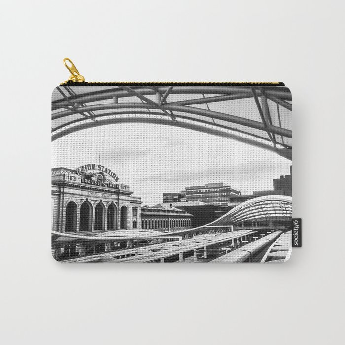 Union Station // Train Travel Downtown Denver Colorado Black and White City Photography Carry-All Pouch