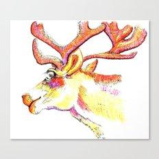 Holdiday drawings : Reindeer Canvas Print