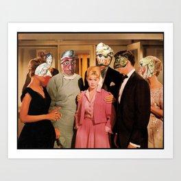 Mask Party Art Print