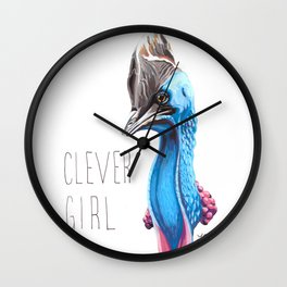 Clever Girl (Cassowary) Wall Clock
