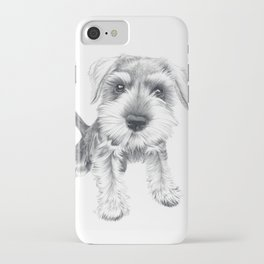 Schnozz the Schnauzer iPhone Case