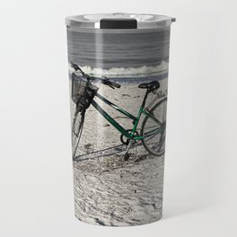 Bike on Barefoot Beach Travel Mug