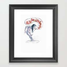 Poetry in the Raw Framed Art Print