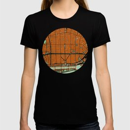 Buenos Aires city map orange T-shirt