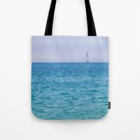 sail Tote Bags featuring Sail by KASIA