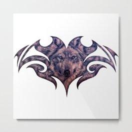 Wolf Face 7 Metal Print