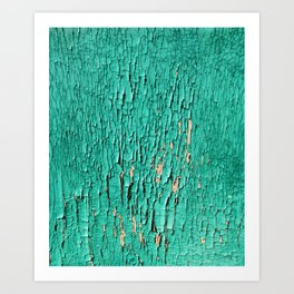 Shedding Green Art Print