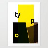 typo Art Prints featuring Typo by ictypo