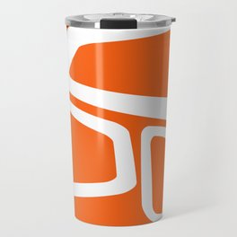 Mid Century In Burnt Orange Travel Mug