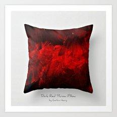 Dark Red Throw Pillow Art Print 3.0 #postmodernism #society6 #art Art Print