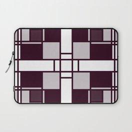 Neoplasticism symmetrical pattern in pinkish gray Laptop Sleeve