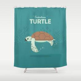 The Sea turtle Shower Curtain