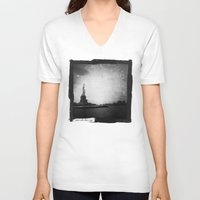 new york V-neck T-shirts featuring New York, New York by Dan Howard