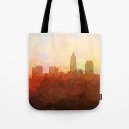 Cleveland, Ohio Skyline - In the Clouds Tote Bag