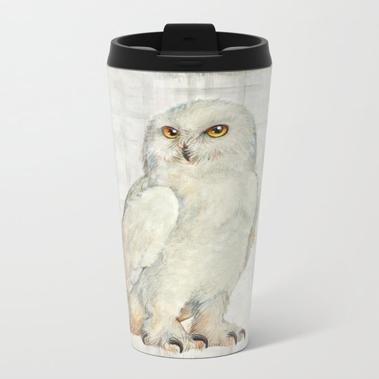 SnowOwl Metal Travel Mug