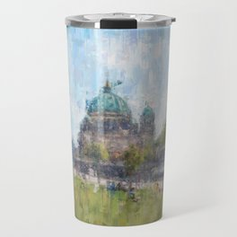 Berlin, Mitte cityscape painting Travel Mug