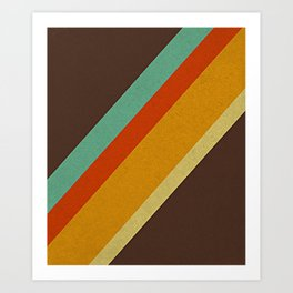 Retro 70s Color Palette Art Print