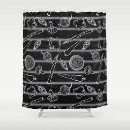 Veggie Grill Shower Curtain