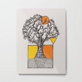 The Beyonder Oak Metal Print