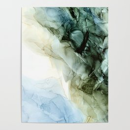 Land and Sky Abstract Landscape Painting Poster