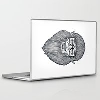 teen wolf Laptop & iPad Skins featuring Nerdy Teen Wolf by Peter Kramar