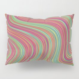 OLEANDER trails of fuschia red grass green abstract Pillow Sham