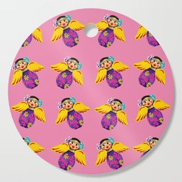 Mexican Angels Hot Pink Cutting Board