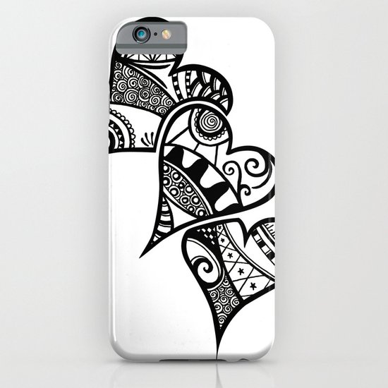 Three Hearts iPhone & iPod Case