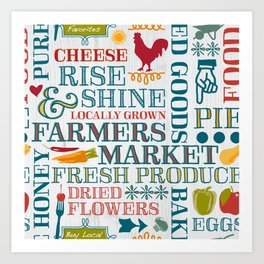 Farm Fresh Market Signage Art Print