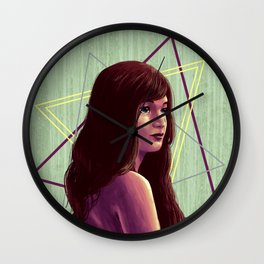 Triangirl Wall Clock