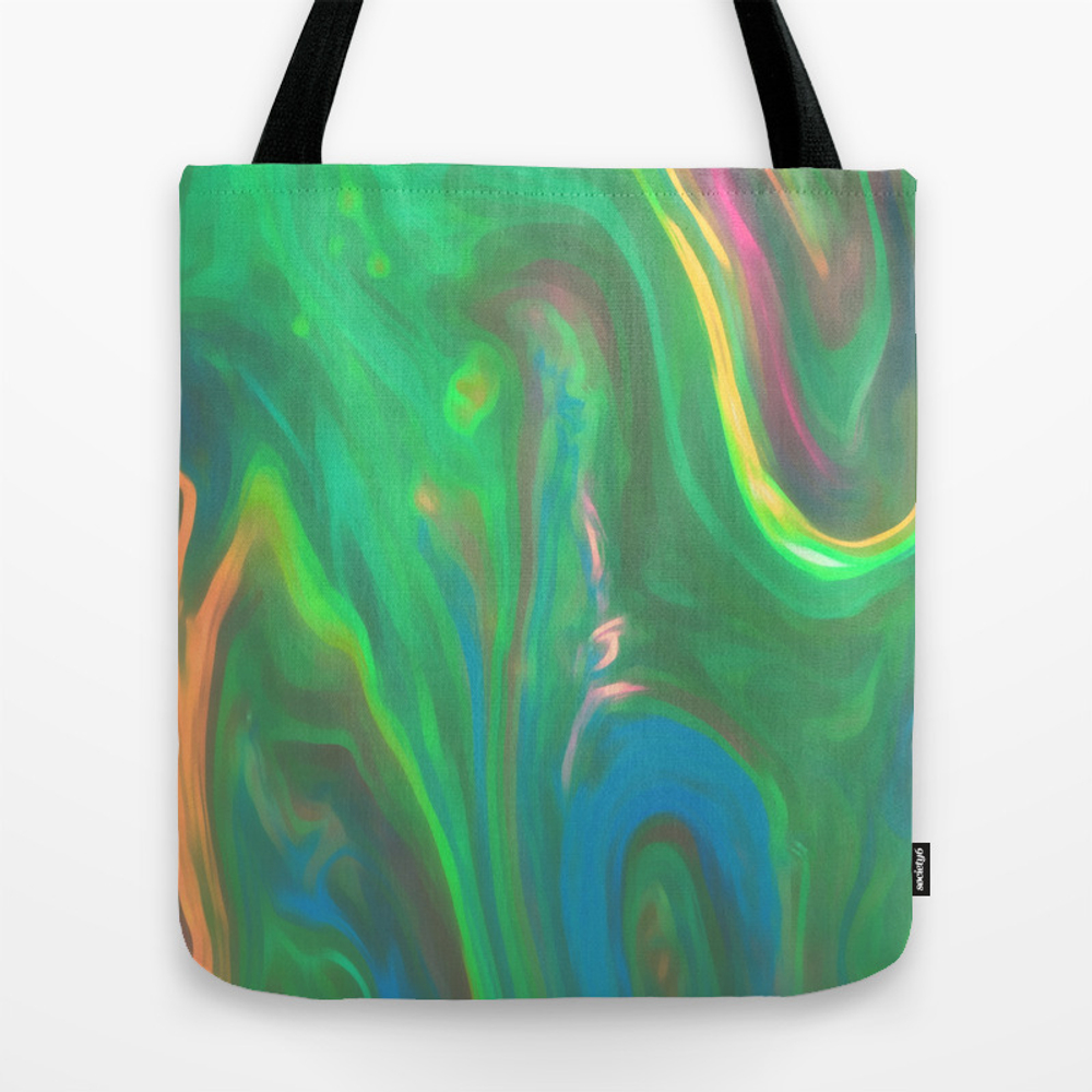 Painted Green Tote Purse by Tarawaters (TBG9838422) photo