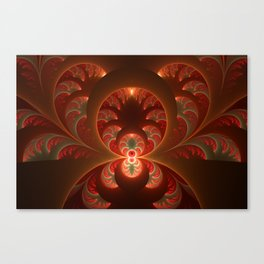 Fractal Mysterious, Warm Colors Are Shining Canvas Print