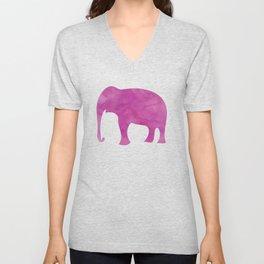 Watercolor Elephant Stampede Pretty Pattern Unisex V-Neck