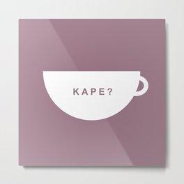 Coffee? (Filipino) Metal Print