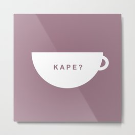 Coffee? (Filipino) Metal Print