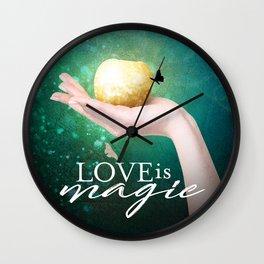 Love is Magic Wall Clock