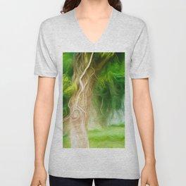Dream Light Green Tree Unisex V-Neck