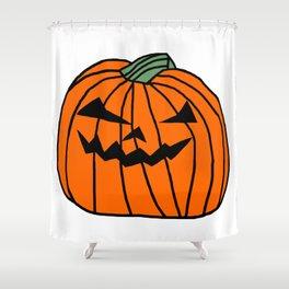 Spooky Halloween Pumpkin Shower Curtain